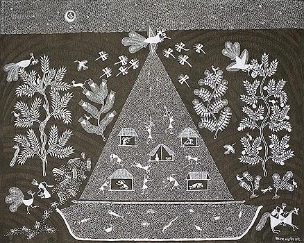 Rhythm and Ritual II - A collection of Warli paintings   VIJAY SADASHIV MASHE