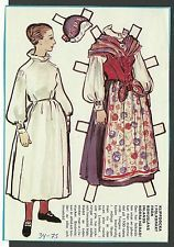 Female Costume from Bohus's Inland Northern Hard Vintage Swedish Paper Doll