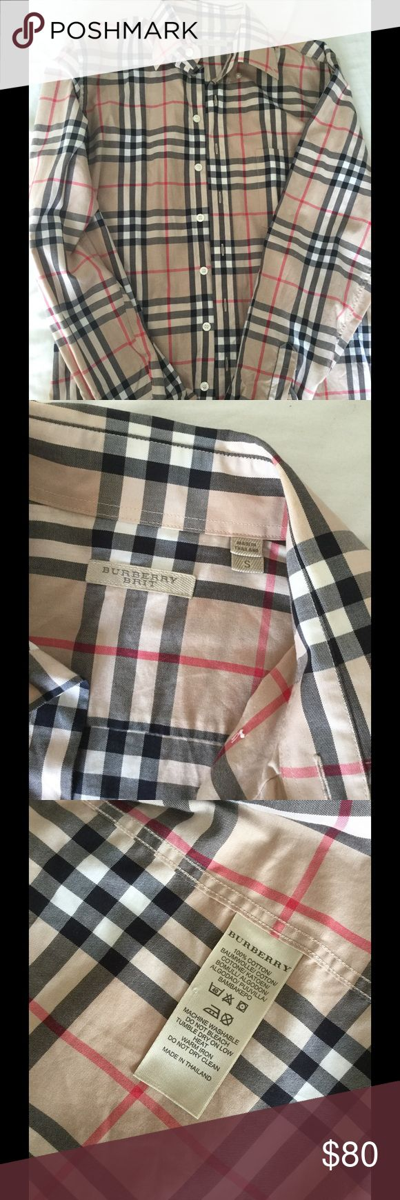 Burberry shirt for man 85% brand new , wore 3 times Burberry Shirts Casual Button Down Shirts