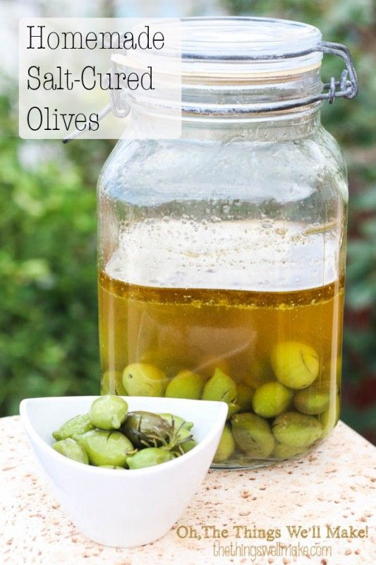 Homemade Salt Cured Olives - Oh, The Things We'll Make!