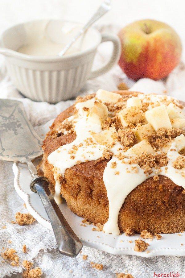 Dieses Apfelstreuselkuchen Rezept kann man ganz leicht nachbacken.