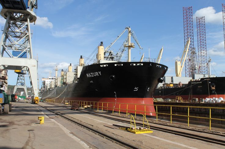 Drydocking of MS Mazury photo: J. Staluszka
