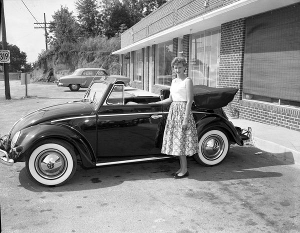 NEW VW Beetle convertible at the Volkswagen dealership in Tallahassee, Florida