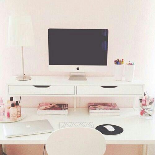 Best 25+ White desk office ideas only on Pinterest | White office ...