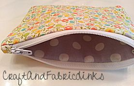 coin purse with zipper sewing pattern