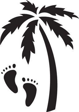 Hawaiian Palm Tree Stencil | Palm Tree Stencil http://momenta.com/Shop/Products/Stencils/Metal ...