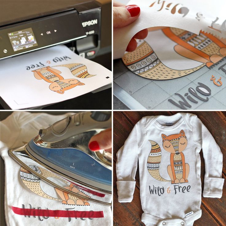 Versatile image throughout printable heat transfer vinyl silhouette