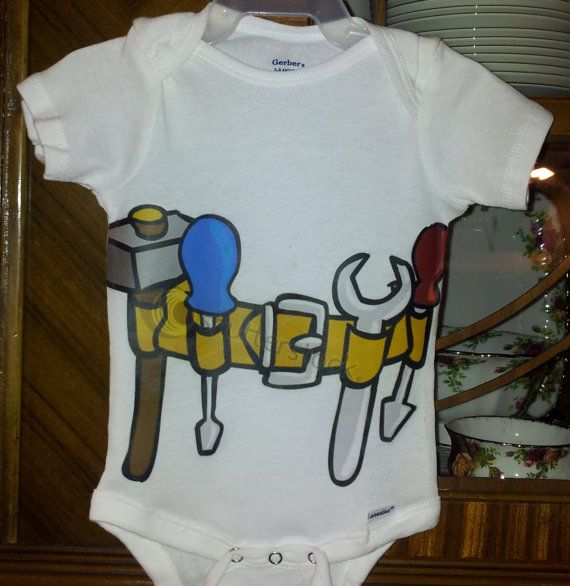 BABY BOY ONSIE Baby Handyman Contractor by brandnewbies on Etsy, $18.00
