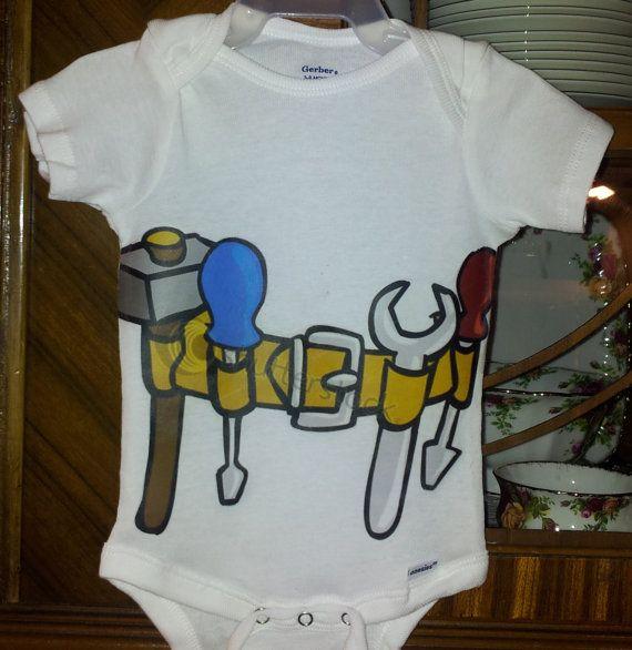 BABY BOY ONSIE Baby Handyman Contractor by brandnewbies on Etsy, $18.00