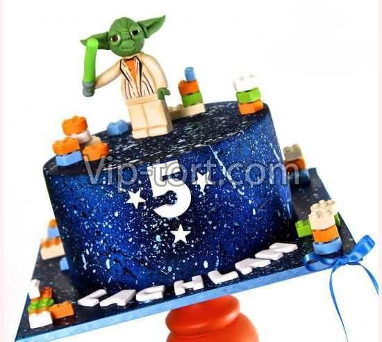 """Детский торт """"Master Yoda"""""""