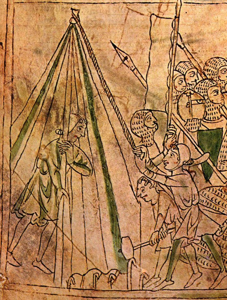 From a Chanson de Roland, British Library Ms Landsdowne 782 f.34v 1240