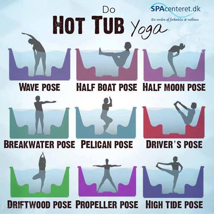 Yoga øvelser du kan udføre i din udespa - Hot tub yoga