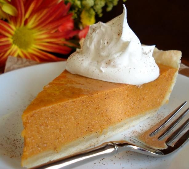 Easy Pumpkin Pie from Food.com:   								We love this pie! I am not much of a baker but this is so simple and so good. DH has tried other people's pumpkin pies and store bought pies at Thanksgiving and says they just don't compare to mine. I always make 2. One for the family and one just for him. Try it, I don't think you will be dissapointed.
