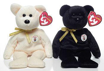 Ivory and Ebony - Bears - Ty Beanie Babies