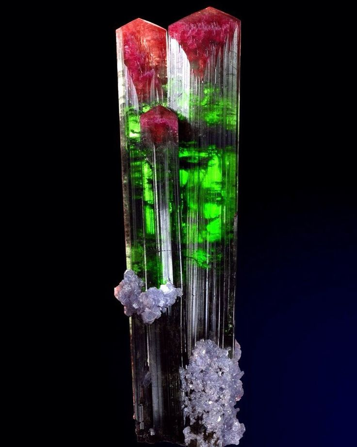 Tourmaline with Lepidolite | #Geology #GeologyPage #Mineral  Geology Page www.geologypage.com