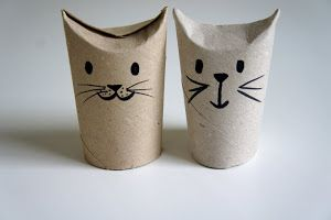 Toilet roll cats