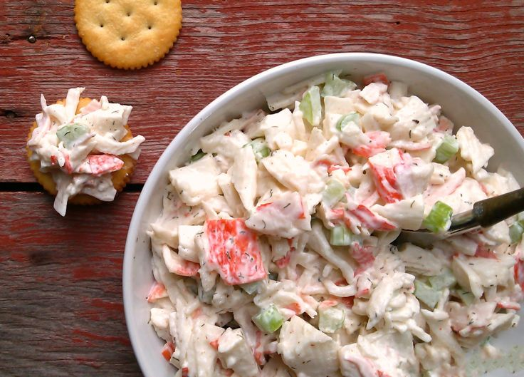 INGREDIENTS: 14 ounces crab meat 1/2 cup mayonnaise 12 stalks celery (amount per preference), finely chopped 1/2 teaspoon Old Bay seasoning 1/2 teaspoon dill salt & pepper to taste PROCEDURE: Separate crab into individual pieces (only if compressed in package – if not, disregard) and chop in…