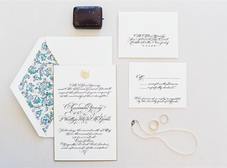 Mr Boddington's Classic New York Stationery | Photographer Jen Huang | White Wedding