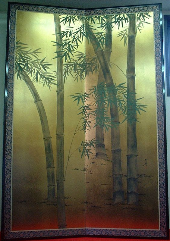 Japanese Four-Panel Byobu Screen on LiveAuctioneers