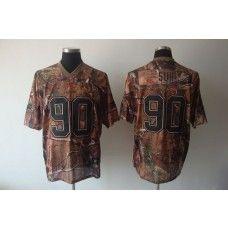 Lions #90 Ndamukong Suh Camouflage Realtree Stitched NFL Jersey