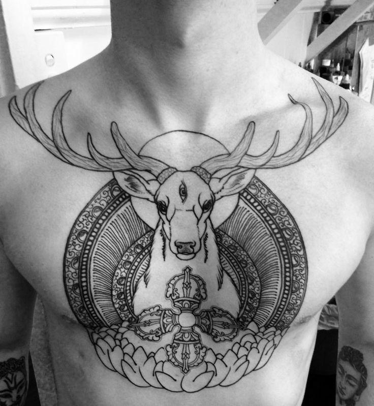 26 Deer Tattoos: The 25+ Best Deer Head Tattoo Ideas On Pinterest