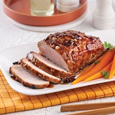Rôti de porc caramélisé à l'asiatique - Recettes - Cuisine et nutrition - Pratico Pratiques