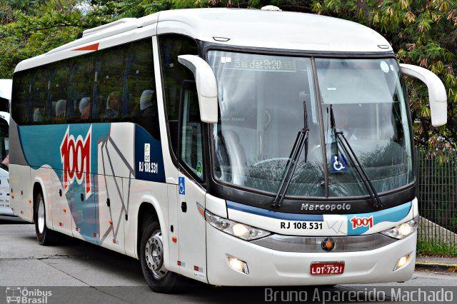 Ônibus da empresa Auto Viação 1001, carro RJ 108.531, carroceria Marcopolo Paradiso G7 1050, chassi Volvo B340R. Foto na cidade de São Paulo-SP por Bruno Aparecido Machado, publicada em 04/11/2016 12:59:02.