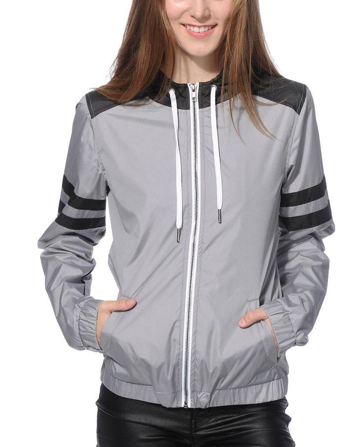 http://www.quickapparels.com/new-look-most-selling-women-grey-black-athletic-stripe-windbreaker-jacket.html