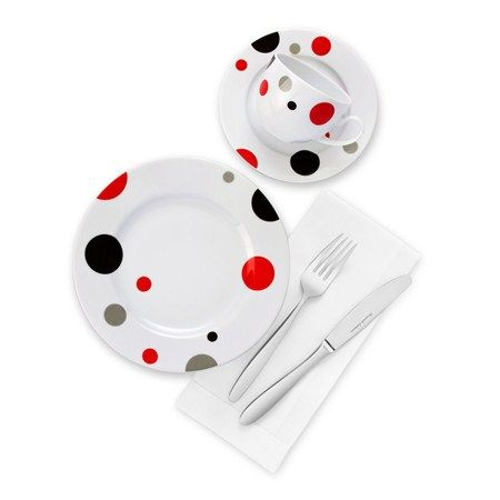Bernardo Points Kahvaltı Takımı / Breakfast Set #bernardo #kitchen #mutfak #tabledesign #dots #points