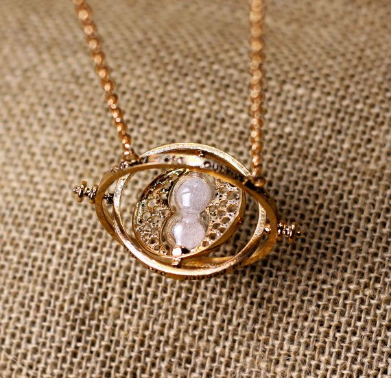 vintage style the Harry Potter time turner necklace the Golden Snitch jewelry popular Antique Gift on Etsy, $2.99