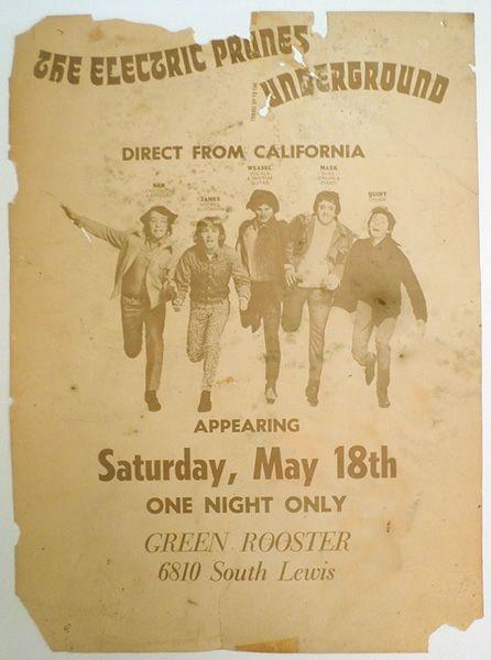 electric prunes tulsa concert poster 1968 concert posters music posters pinterest concert. Black Bedroom Furniture Sets. Home Design Ideas