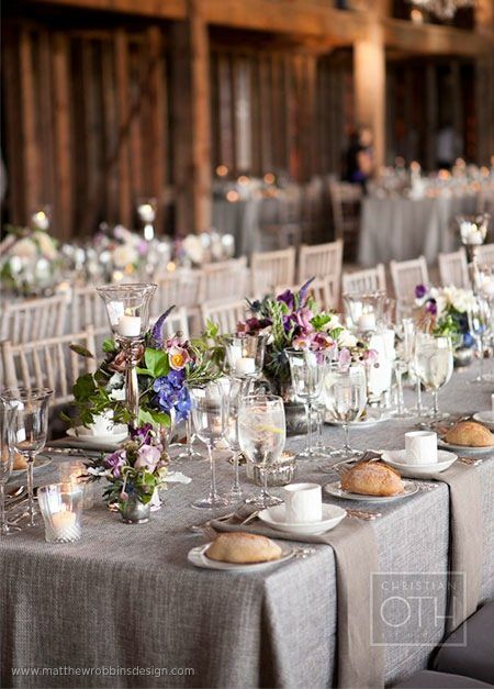 13 best taupe wedding theme images on pinterest for Wedding reception table linen ideas