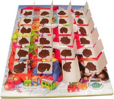 It just wasn't Christmas without a chocolate advent calendar.  Couldn't find them anywhere for years.  So glad I can do this with my kids every year.