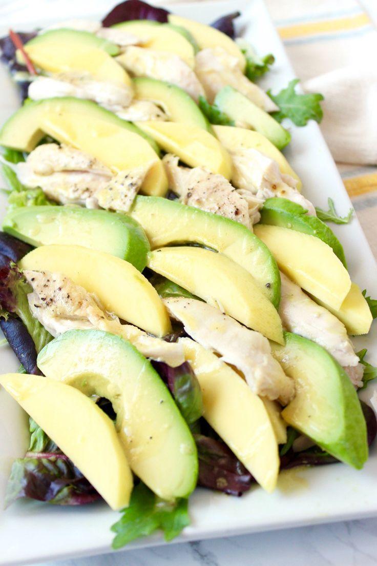 Mango, Avocado and Roasted Chicken Salad with Honey Dijon Vinaigrette