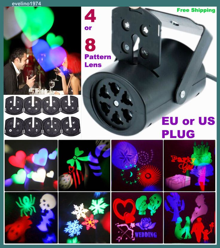 RGB LED PROJEKTOR, Xmas,Disco,Party Lighting, Figures,Love,Snow,Color Light,Lamp #Unbranded
