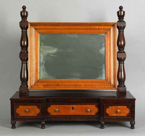 Pennsylvania Late Federal Mahogany and Tiger Maple Shaving Mirror circa  1835 29 5 h  x 29 25   Custom FurnitureAntique. 76 best Federal Furniture images on Pinterest