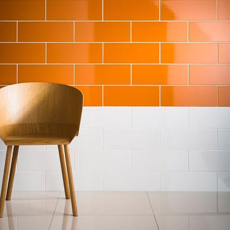 orange vibrants orange gloss ceramic tiles for bathroom wall