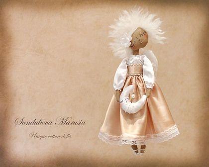 """""""Ангел оберегающий детский сон"""" - авторская кофейная куколка - ангел,белый"""