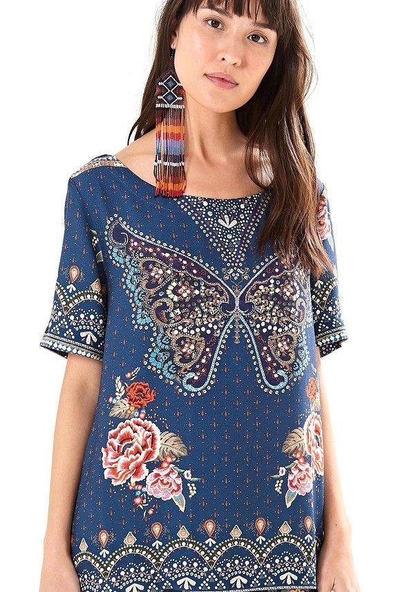 827ec253fd t-shirt borboleta mística