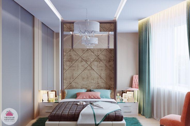 Нежная и свежая спальня в духе современного винтажа. Деталь дня: бирюзовый цвет в спальне и его сочетание с другими оттенками