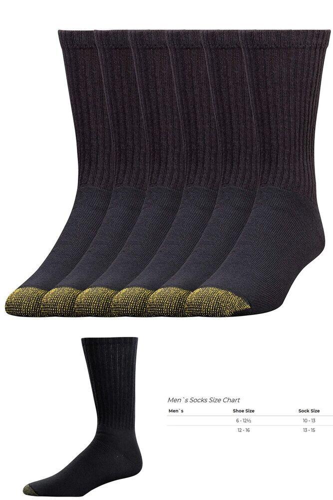 Hanes Men/'s Over-the-Calf Tube Cotton Socks 6 Pack White 10-13 Shoe Size 6-12