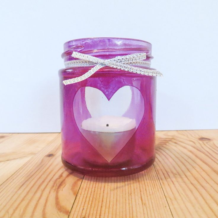 A personal favorite from my Etsy shop https://www.etsy.com/listing/232320639/purple-heart-jam-jar-tea-light-candle