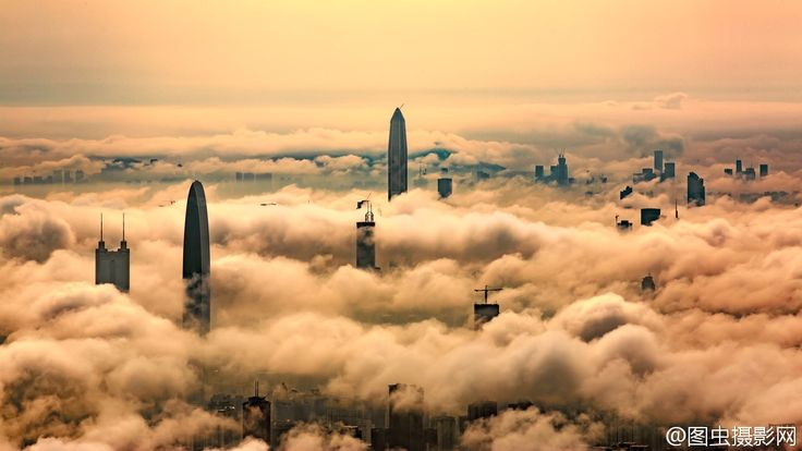 Rising through the clouds: Shenzhen China [1200  675]
