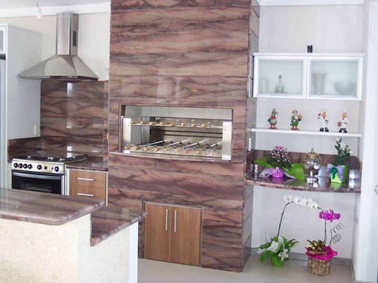 churrasqueira - revestida em marmore