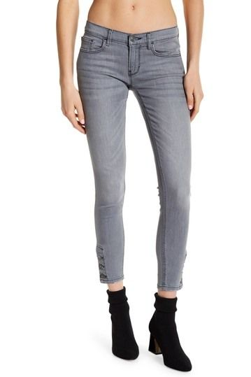 Image of Etienne Marcel Skinny Button Accent Jeans
