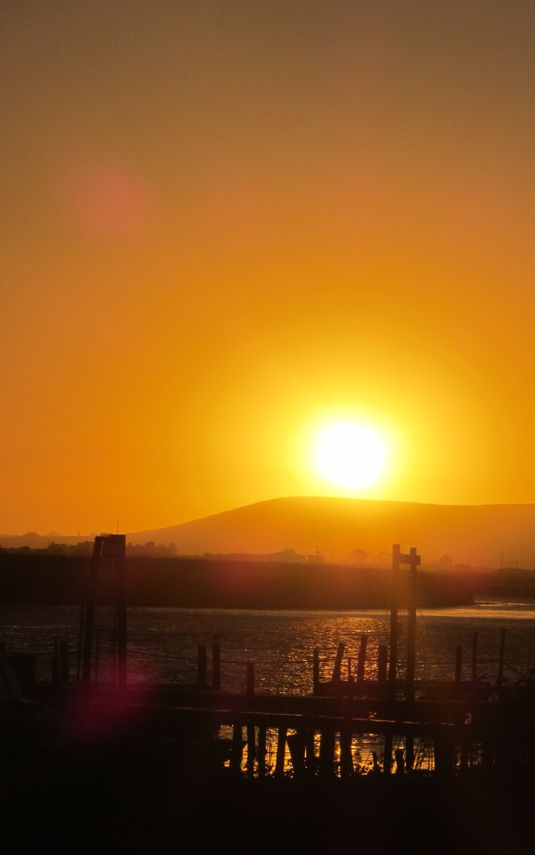 SUNDOWNER IN VELDDRIF - This quiet little village has some seriously amazing sunsets over the Bergrivier ~ visit 'Bokkom Laan' for the best seats in the house!!!  http://www.absolutebeach.co.za/  #westcoast #southafrica #velddrif #sunset