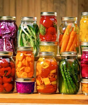 "Canning 101 - Beautiful & Delicious! [in my experience, canned food doesn't look quite this colorful, but I forgive their ""design license"" in making the photo prettier - the article is still good]"