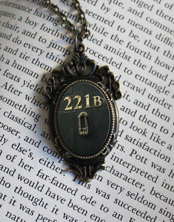 SHERLOCK BBC 221B Door  Pendant Necklace by ConsultingFanGeeks, $12.99