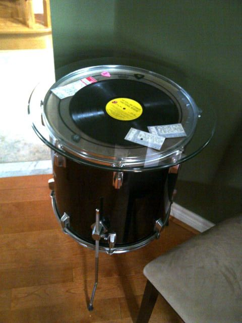 Great End Table IDEA Creative Way To Use Old Vinyl And