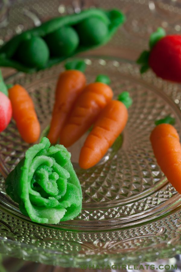 How to make marzipan fruits and vegetables.